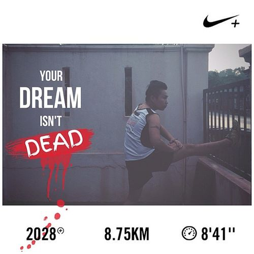C'riosly Don't let fear decide your future...... Dontletyourdreamdie It's V I Will Never Surrender Quotes Running New Balance RC1400v2 Salomon Selangor Nikeplus