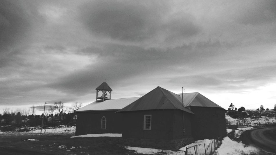 rural church Cold Temperature Built Structure Architecture Winter Building Exterior Newmexicoskys Newmexicomountain Newmexicoskies Newmexicophotography NewMexicoTRUE