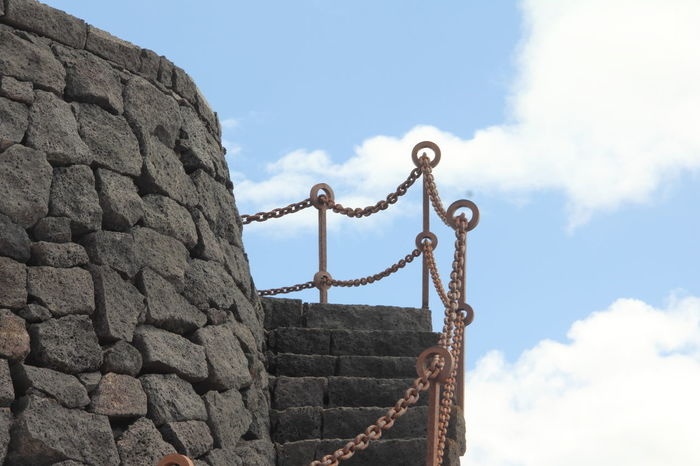 Turm mit Treppe - tower with staircase - torre con escalera Architecture Built Structure Canary Islands Cloud - Sky Day Escalera Espana-Spain Lanzarote Island Low Angle View No People Outdoors Sky Staircase Torre Tower Treppe Turm