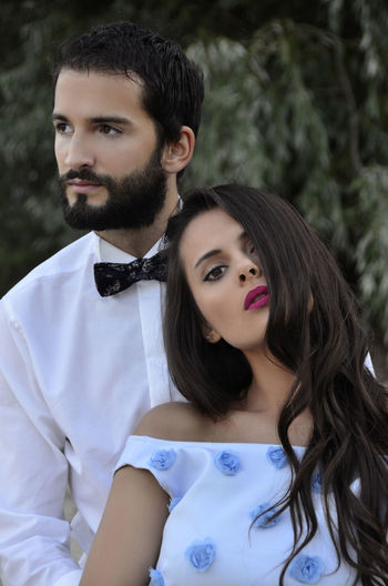 Beautiful Day Beautiful People Couple Couplephotography Love Beautiful Woman Beauty Blured Background Bow Tie Couple - Relationship Couples Shoot Focus On Foreground Hair Hairstyle Lifestyles Long Hair Love People Portrait Real People Two People Women Young Adult Young Men Young Women