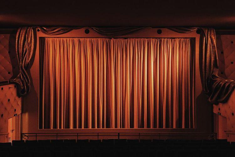 Interior Of Illuminated Movie Theater