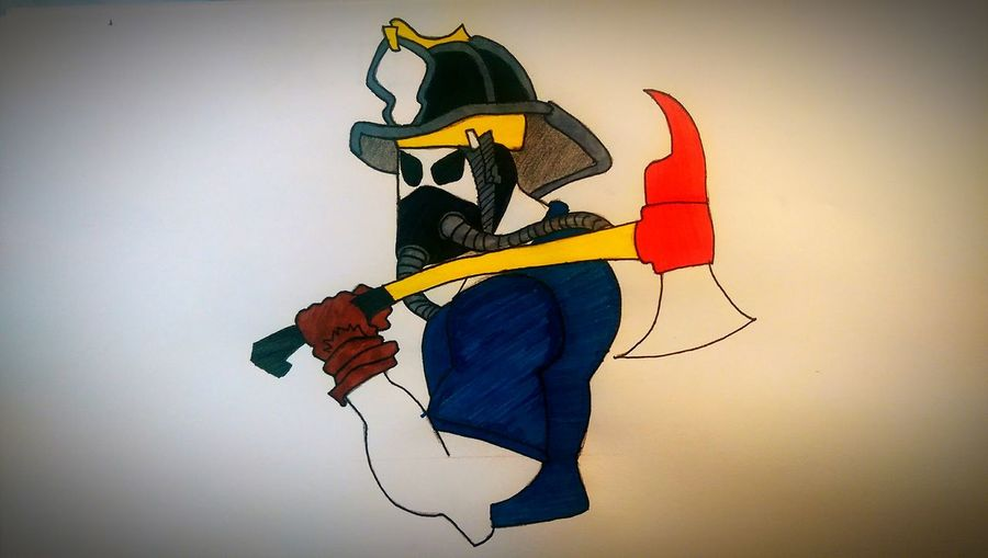 Firefighter Drawing Draw Dessin Color Portrait