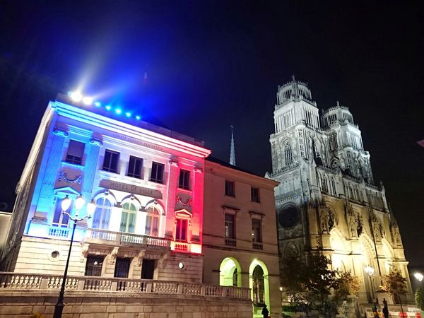 French Color EyeEm Gallery Church Architecture By Night Scenics French Architecture EyeEm Best Shots Eyeemphotography Colourful Orléans Cathedral Orléans France