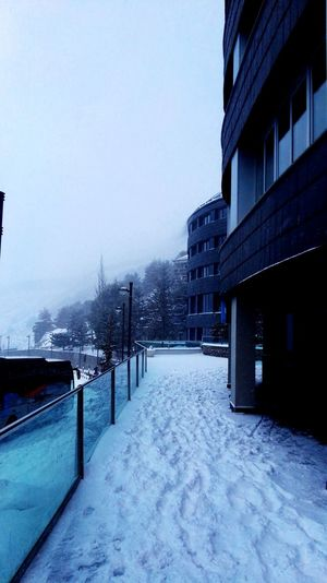 Winter Snow Cold Temperature Architecture Weather Built Structure No People