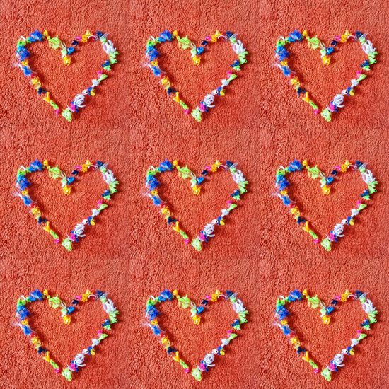 Art And Craft Multi Colored Hearts Heart Heart Shape Background Coloured Background Photography Colourful Hearts