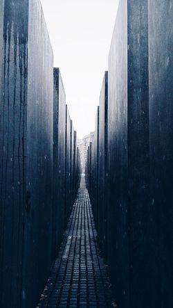 Architecture Built Structure The Way Forward Narrow Building Exterior Long Diminishing Perspective Walkway Clear Sky Pathway City Tall Sky Vanishing Point Day Surface Level Footbridge Outdoors Alley Tall - High Berlin Germany Holocaust Memorial Snow Winter