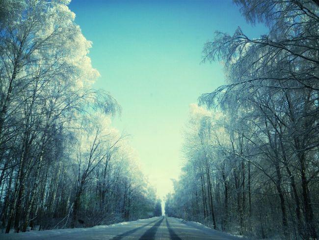 Дорога Русскаязима снег
