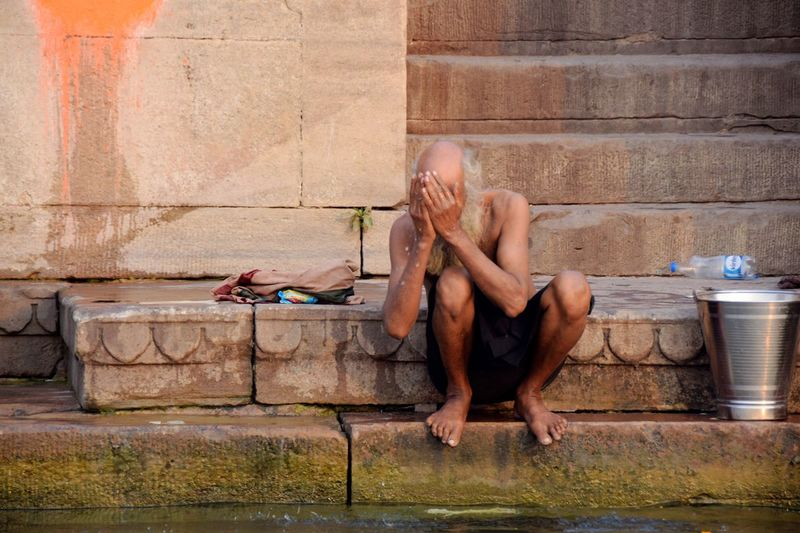 People Varanasi, India Ganges, Indian Lifestyle And Culture, Bathing In The Ganges, Morning Light Hindu Ceremony Bathing In Ganga Hinduism Adult Barefoot Bathing Ritual Indian India Ganges Varanasi Hindu Culture Portrait Indian Culture  Real People Cultures Hindu Ceremony Ritual Indianphotography