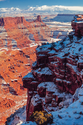 Idyllic Shot Of Dramatic Landscape At Dead Horse Point State Park During Winter