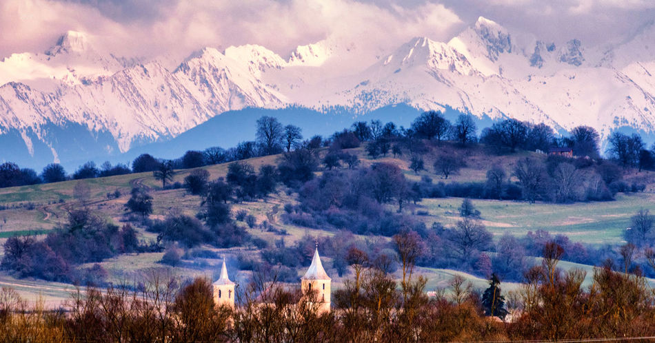 Sibiu, Romania Beauty In Nature Cloud - Sky Cold Temperature Environment Land Landscape Mountain Mountain Peak Mountain Range Nature No People Non-urban Scene Outdoors Plant Scenics - Nature Sky Snow Snowcapped Mountain Tranquil Scene Tranquility Tree Winter