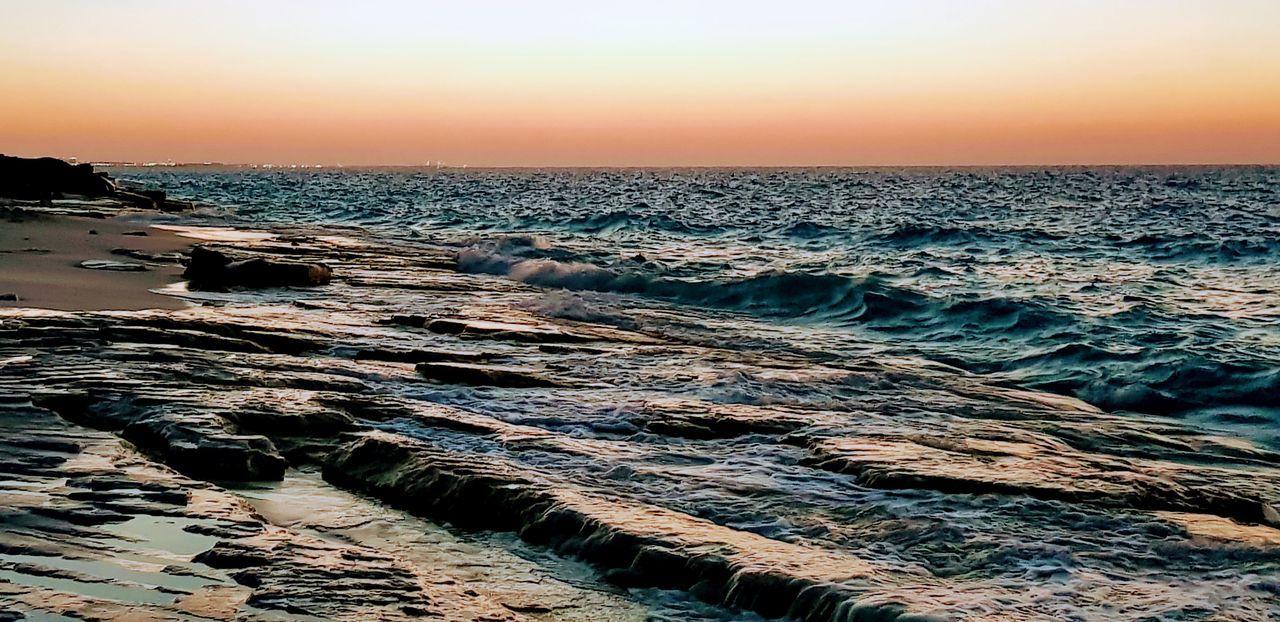 North coast, Alexandria, Egypt Water Wave Sea Sunset Beach Sand Sky Horizon Over Water Seascape Coast Water Vehicle