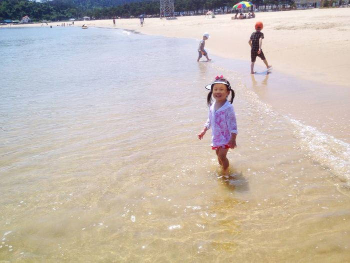My daughter. Cute. Lovely. Sunshine Sea Swimming