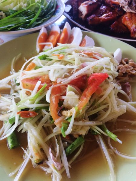 Papaya Salad Food Thai Food ASIA Chili  Eat Food And Drink Papaya Spicy Thai Food