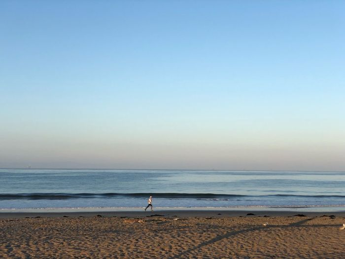 Little people Layers Morning Beachphotography Life Is A Beach Sea Beach Water Land Sky Horizon Beauty In Nature Horizon Over Water