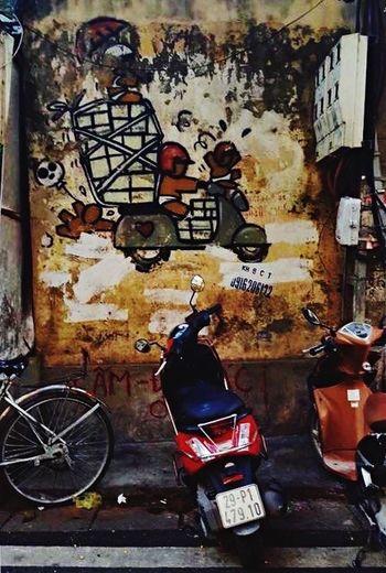 Street Art Graffitti Cha Ca St, Hanoi Hoan Kiem, Hanoi Wall Art Hanoi, Vietnam Vietnam Old Quarter, Hanoi Phố Cổ