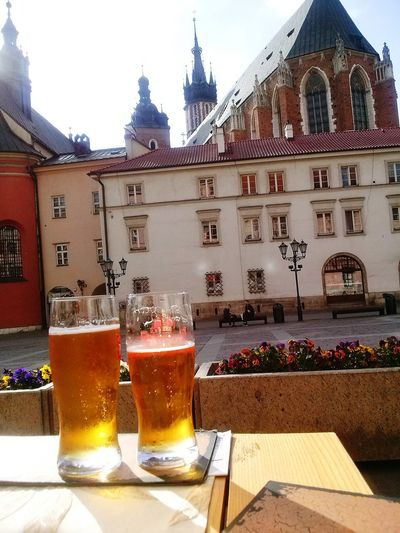 Beer Time Beer Glass Beer - Alcohol Beer In Cracovia Cracow Poland Beer Cracow Street