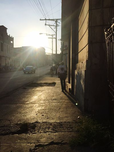 Sunlight Street Lifestyles Walking Real People On The Road Life Is Perfect Paceful Love ♥ Road Cuba Collection Cuba Hello World Magic Sunset