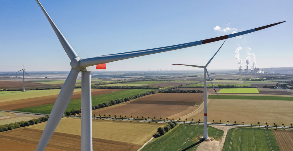 Wind turbine with coal power plant view from drone - Sustainable development, environment friendly, renewable energy concept. Windmill Wind Turbine Wind Power Wind Farm Wind View Turbine Transportation Traditional Tower Technology Sunset Sunlight Sun Sky Saving Rural Scene Rotors Renewable Energy Renewable Propeller Power Pollution Outdoors No People Nature Landscape Land Industry Industrial High Green Technology Global Warming Generator Fuel And Power Generation Fuel Friendly Field Environmental Conservation Environmental Environment Energy Production Energy Emissions Electricity  Electrical Electric Ecology Ecological Eco Drone  Day Construction Concept Coal Power Plant Coal Clean Blades Blade Alternative Energy Alternative Air Vehicle Aerial Above