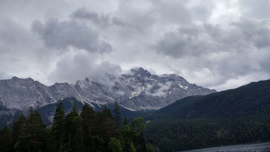 EyeEm Selects The view from the Eibsee at the Zugspitze. Mountain Nature Sky Beauty In Nature Landscape No People Outdoors Day Range