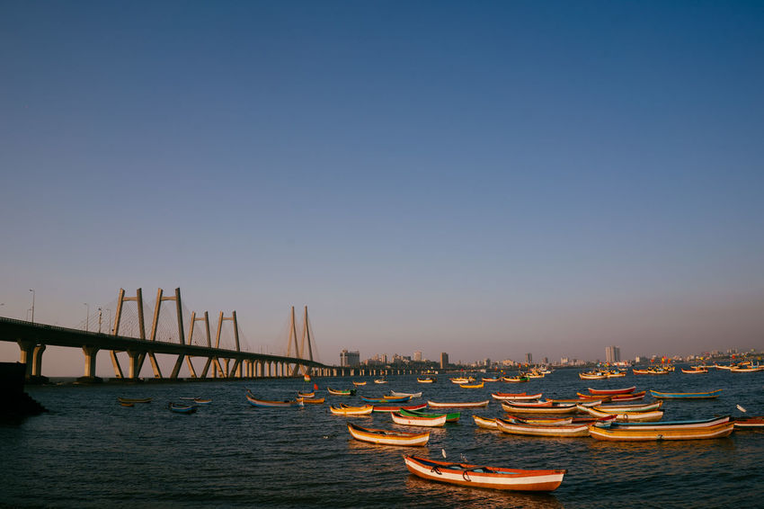 India Mumbai Architecture Boats Building Exterior Built Structure City Cityscape Day Harbor Nature Nautical Vessel No People Outdoors Scenics Sky Skyscraper Transportation Travel Destinations Water Waterfront