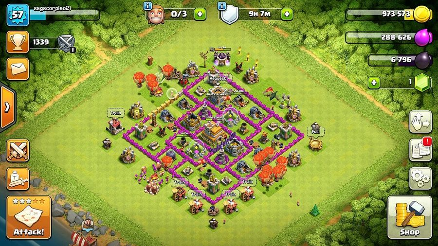 Clashofclans TH7 Townhall7 Basemap CoC Clash Of Clans Clashofclansbase Clashon Clashers Full Frame Green Color Multi Colored Grass No People India Multicolored TownhallLevel7 Townhall7