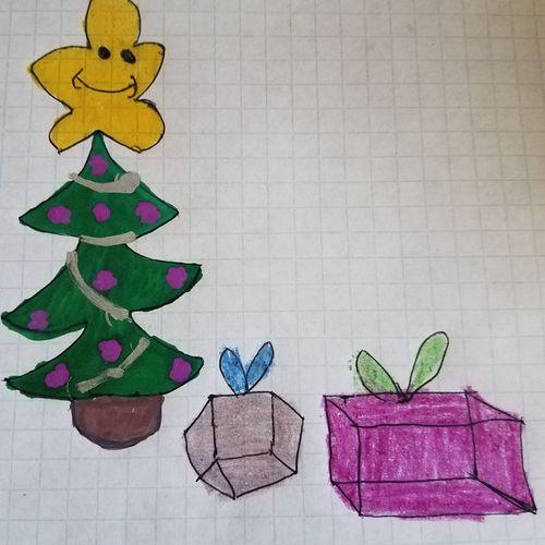 Christmas Tree Drawing ✏ Coloring Christmastime