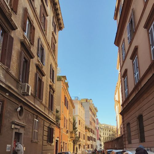 Rome Street Building Exterior Architecture Built Structure Sky Low Angle View Outdoors City Balcony Residential Building No People Day