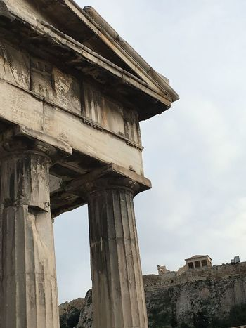 Rediscovering my City Athens, a view from below on Parthenon Acropolis Greece