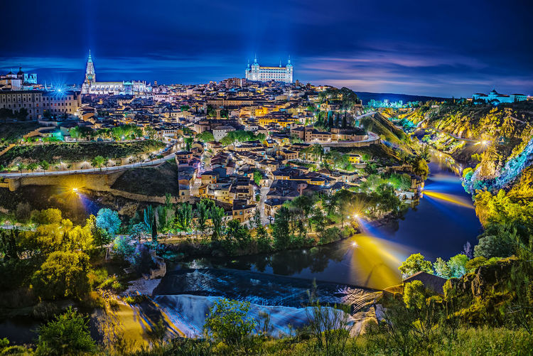A still frame from a day to night time lapse I am working on. Toledo Night Lights SPAIN