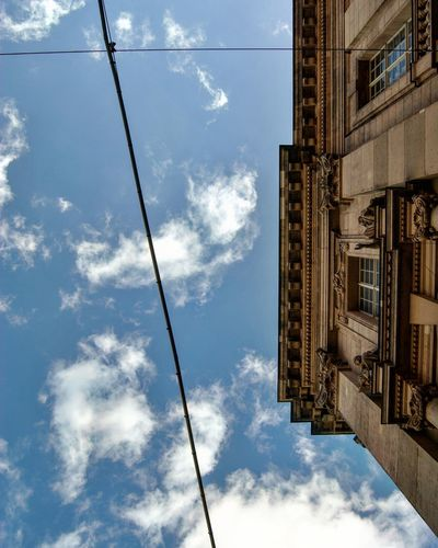 Art Is Everywhere Cloud - Sky Architecture Outdoors Built Structure Low Angle View DaySky No People Berlin Photography Eyem Best Shot - My World Eyem Best Shots Eyem Market Berlin Life EyeEmBestPics Berlin Modern Space City Architecture BerlinBerlin Scenics Tranquility Clear Sky Eye4photography