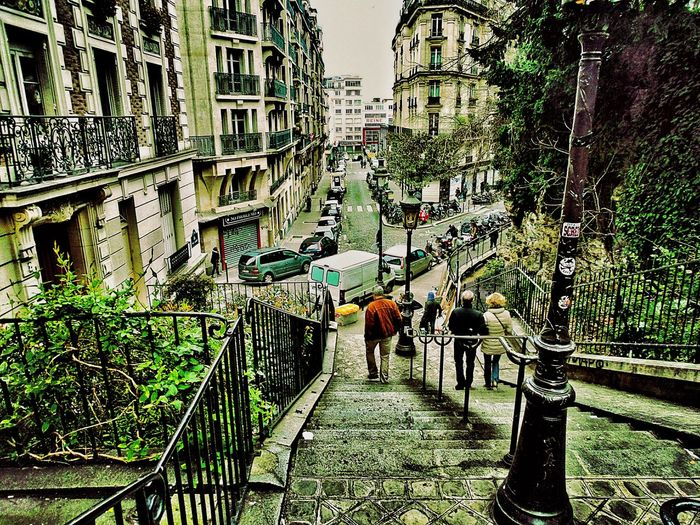 Downstairs from Sacre Coeur Saturday Afternoon Little Streets People In The Streets No Car Traffic Old Buildings Cityscape City View  Urban Landscape Urban Lifestyle Paris France 🇫🇷 The Street Photographer - 2016 EyeEm Awards Adventures In The City