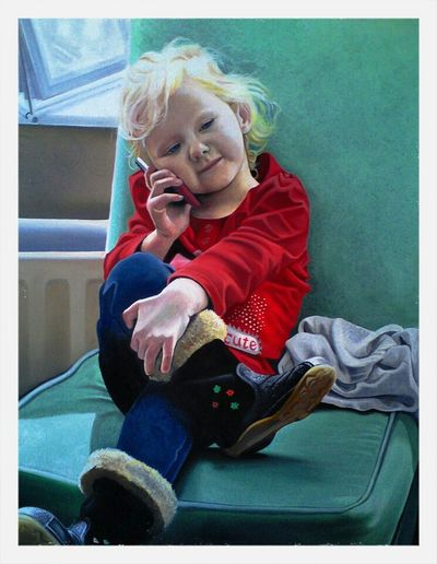 Check This Out Portrait Art Enjoying Life oil painting of my niece mazie