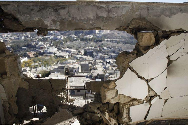 My Year My View Syria  un village détruis après le passage des djihadistes Warzone War Ruins Photograph
