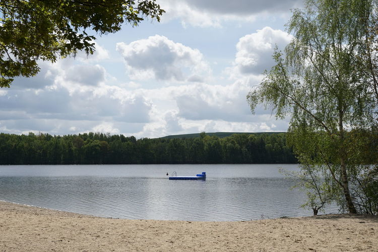 Altwarmbüchener See Day Outdoors Germany Water Beauty In Nature Scenics - Nature Tranquility Lake Nature Tranquil Scene Bathing Lake Swimming Beach No People Swim Platform