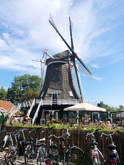Sky Built Structure Wind Turbine Cloud - Sky Wind Power Nature Architecture Traditional Windmill