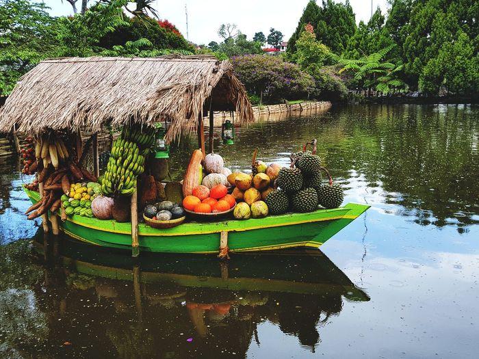 Floating Market Lembang Floating On Water Floating Market Markets On Water Water Outdoors Reflection Lake Day Nature AI Now