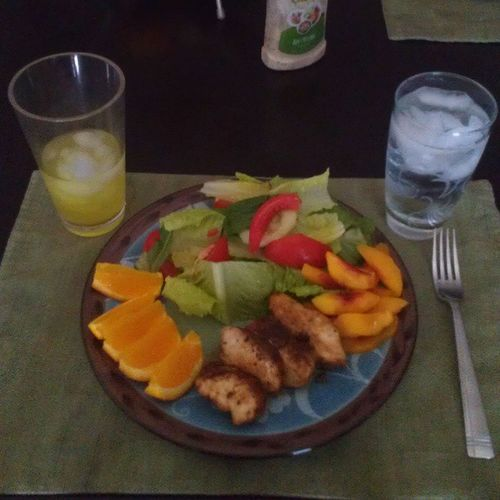 Dinner Nectarines Oranges Salad