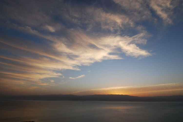 Amazing Landscapes of Israel, Views of the Holy Land Sky Water Cloud - Sky Scenics - Nature Tranquility Sea Beauty In Nature Nature Sunset Tranquil Scene Waterfront No People Idyllic Outdoors Horizon Reflection Environment Sun Freedom Light