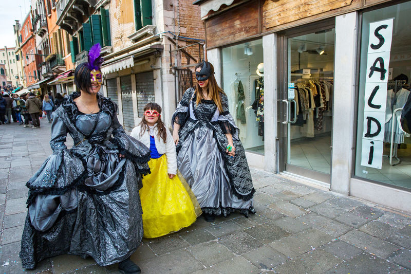 Carnival Carnivale In Venice Adult Adults Only Architecture Arts Culture And Entertainment Carnival Costumes City Day Fashion Outdoors People Royal Person Store Street Women Young Adult