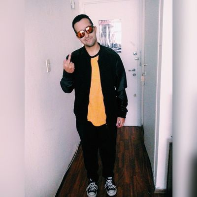 NJOY UR WEEKEND, INSTAPEEPS! :) Me Gpoy Guy Dude instalike instafollow fashion clothing style sunglasses tshirt jacket converse chucktaylors instamood fun weekend instapic instadaily photooftheday awesome cool instacolors instacool pants allblack yellow