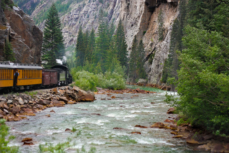 17th Century Beautiful Nature Blue Canyoi Colorado Creek Durango Silverton Train Little Train Locomotive Nature Nature Photograhy Nature Photography Old Old Locomotive River Silver  Silverton Train By A Riv Train By A River Train By The R Train Photography