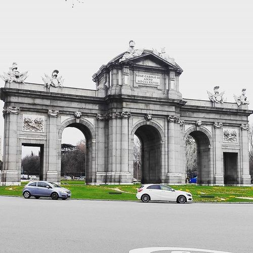 Hola Travel Instatravel Madrid SPAIN España Old Architecture City Gate Puerta Beautiful