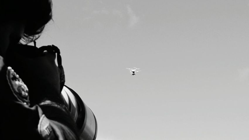 The Drone in the Sky.. Dronephotography Drone Moments Eyeem Monochrome EyeEm Black&white! Black And White Taking Photo EyeEm Best Shots - Black + White