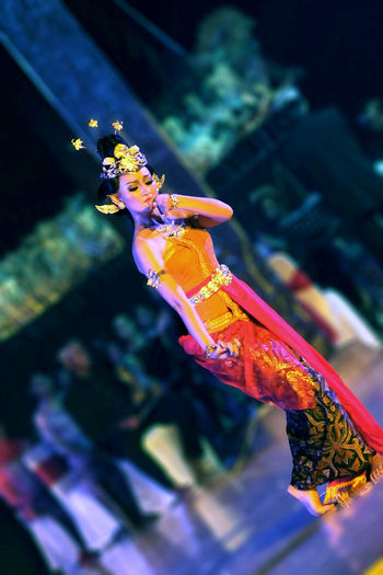 traditional dance woman Culture Tradisional Art Festival Season Tradtional Dresss Traditional Clothing Traditional Culture UnderSea Underwater Multi Colored Sea Life Sea Horse Full Length City Close-up