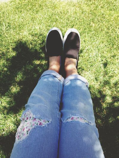 Jeans Levis Shoes Soaking Up The Sun