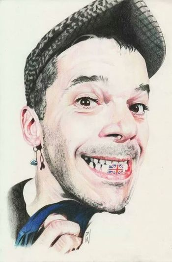 Art Check This Out Drawing Portrait ian Dury sketch