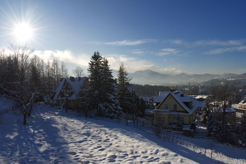 Sunburst Tatra Mountains Mountain Range Poland Zakopane Winter Snow Cold Temperature Nature Sunlight Sun Tranquil Scene Tranquility Beauty In Nature No People Sky Mountain Landscape Scenics Day Outdoors
