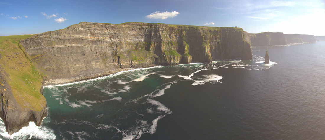 Cliffs Of Moher, County Clare, Ireland Castle Cliffs Of Moher  Coastal County Clare Discover Ireland Ireland Ireland Countryside Ireland Landscapes Irish Landscape Landscape Landscape_Collection Panorama Rural Seascape Sunset Tourism Ireland Wild Atlantic Way