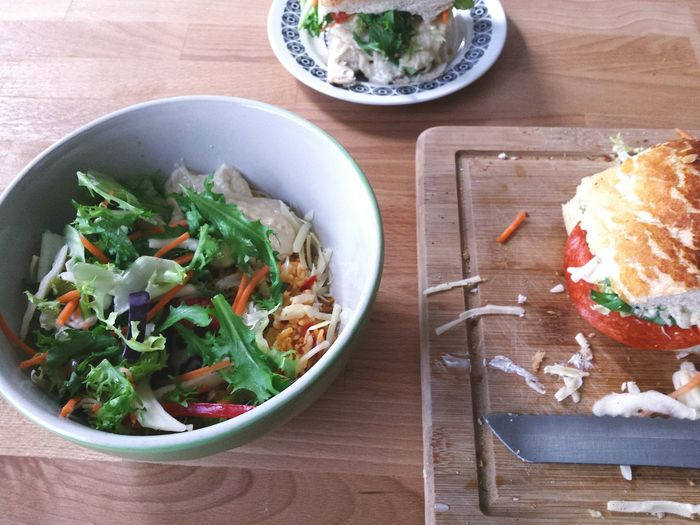 Salad Bowl Rice Rice Salad Sandwich Humous Vintage Plate Salad Lunch Food Foodporn Food Porn Foodphotography Yum Tasty Table Kitchen Learn & Shoot: Simplicity Butty Sarnie Tiger Bread Cheese Lunchtime Lunch Break Sandwiches