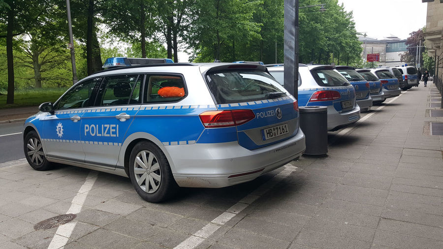 Ready for a quick getaway! Parked Cars Police Cars Police Force Polizei Ready To Go
